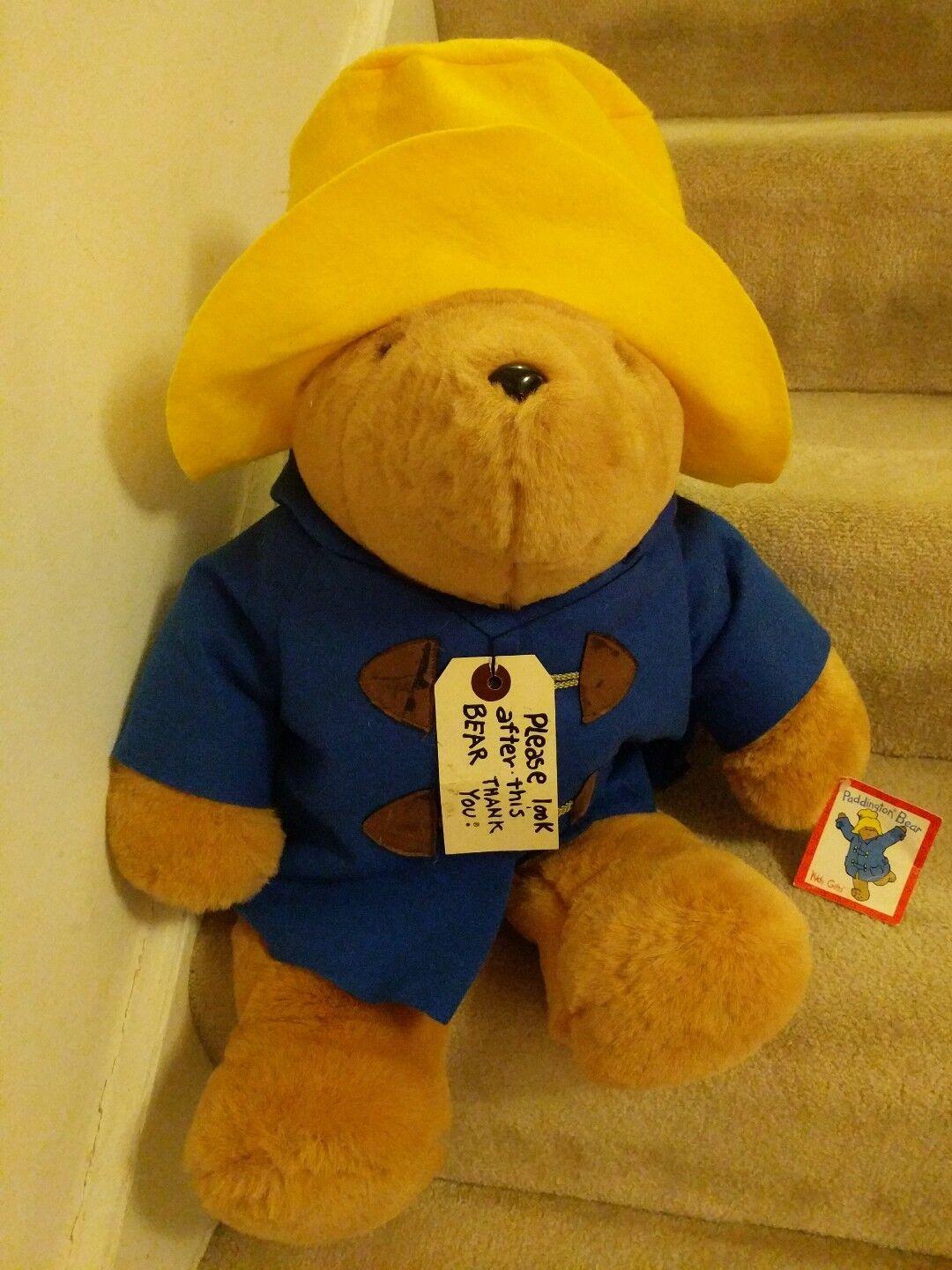 Large Vintage PADDINGTON BEAR Sears Kids Gifts Plush Stuffed Animal Huge teddy