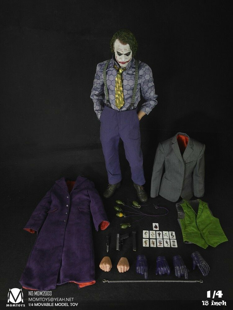 1 4 Momtoys Action Figure Bat Comic Hero Star Joker Collectible Mom2003 18inch