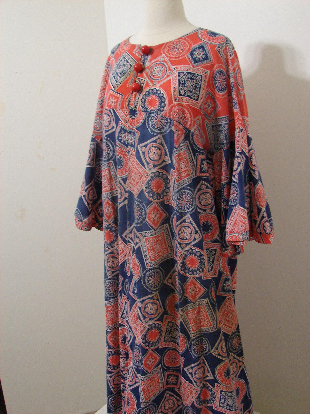 PEGGY LOU Caftan Dress Vintage 1960's Groovy Patc… - image 5