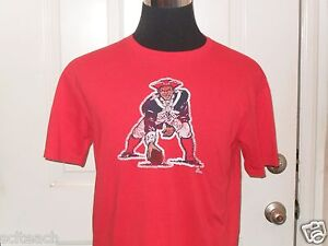 Brand-New-Mitchell-amp-Ness-Red-New-England-Patriots-NFL-Distressed-Style-T-Shirt