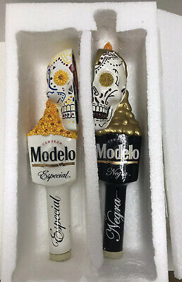 Negra Day Of Dead Skull Beer Tap Handle Kegerator Lot New Modelo Especial