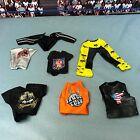 "WWE Wrestling Mattel Elite Lot of Shirts Pants Accessories for 6-7"" Figures JBL"