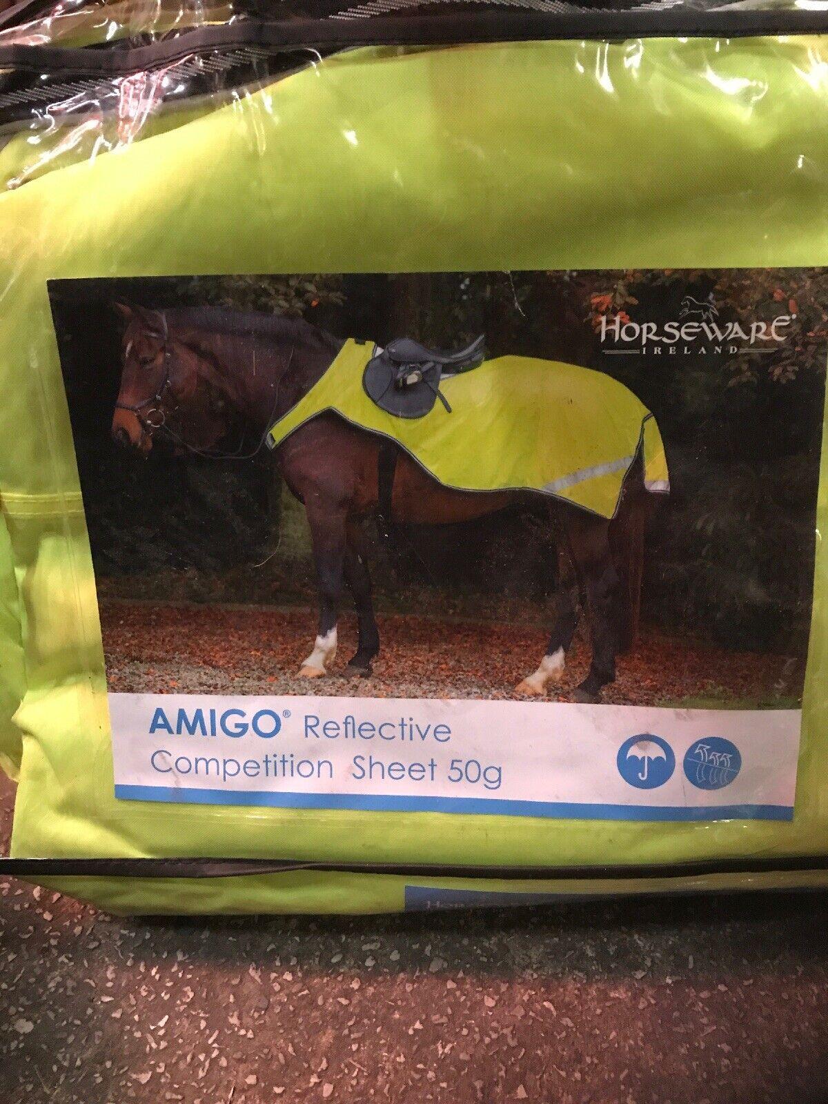 "Horseware Amigo Horse Pony Reflective Hi Viz Competition Sheet 4'11"""