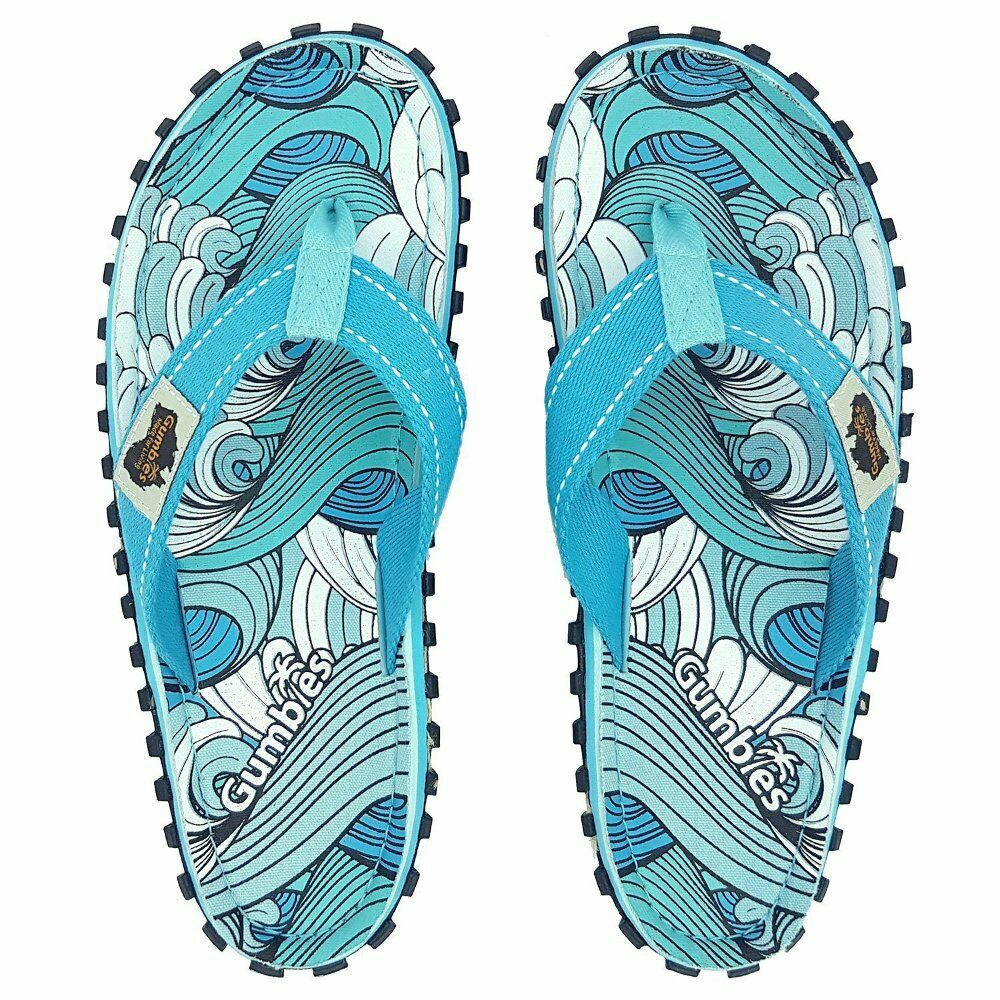 Gumbies - Islander Canvas Flip-Flops - Waves