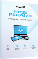 F-Secure VPN freedome online privacy e sicurezza WIFI PC dispositivi 5 ANNO 1 CHIAVE