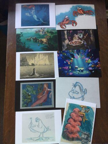 10 The Art Of Disney Renaissance Beyond 1989-2014 Postcards 1989 Little Mermaid