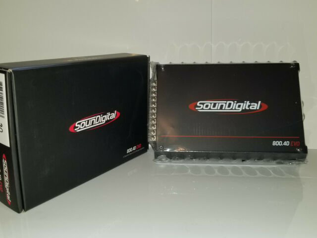 Soundigital 800 4d EVO Series 800w 4-channel Car Audio Compact Amplifier 2  OHM
