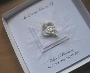 bereavement card boxed memorial keepsake in loving memory