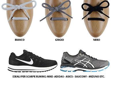 Lacci stringhe per scarpe running, tondi ovali ideali asics, saucony etc | eBay