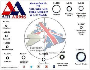 Full-Premium-Seal-Service-kit-AirArms-S310-S400-S410-TDR-amp-MPR-0-22-amp-0-177