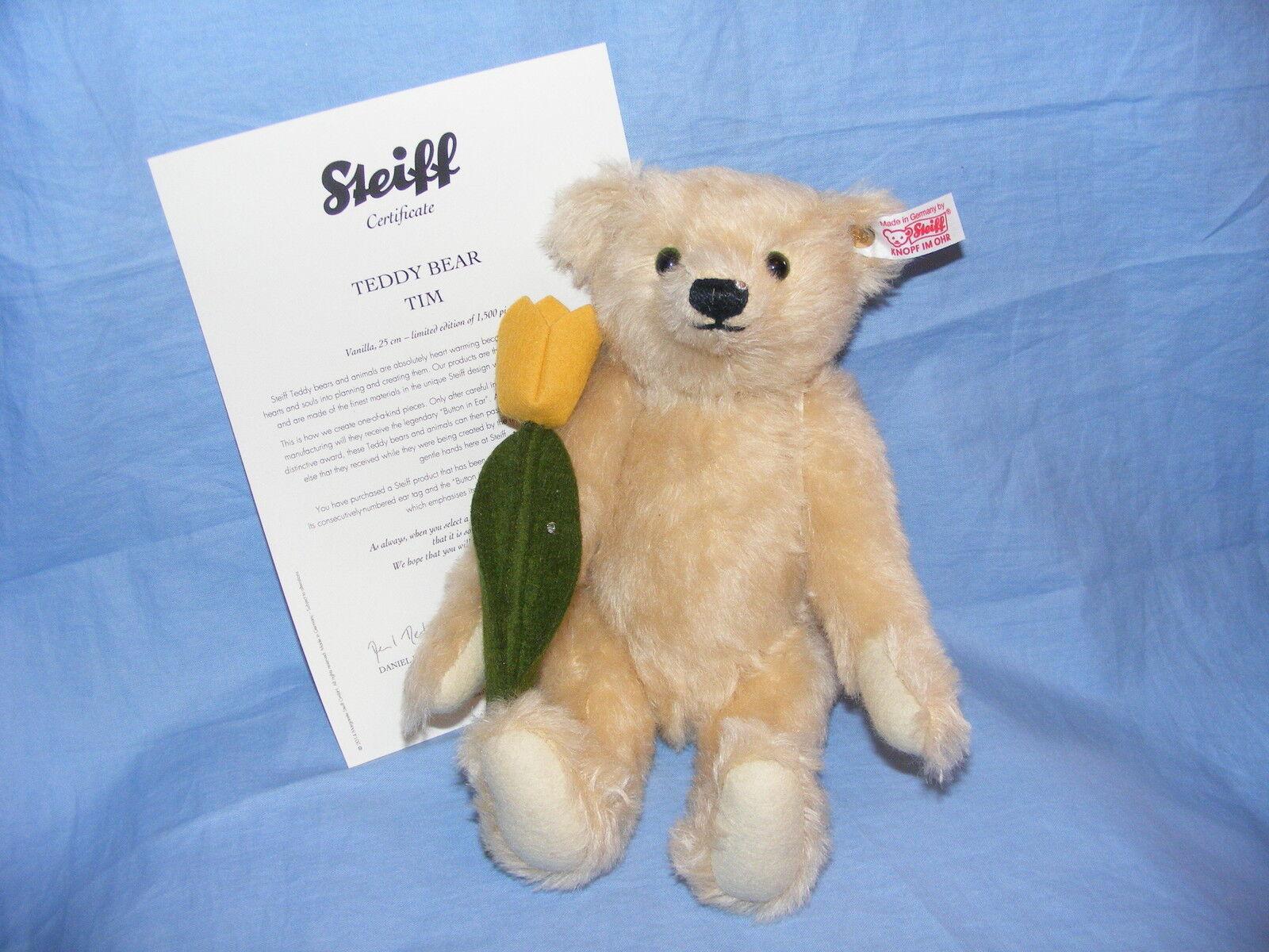 Steiff Oso de Peluche Tim con Flor - Edición Limitada-036767