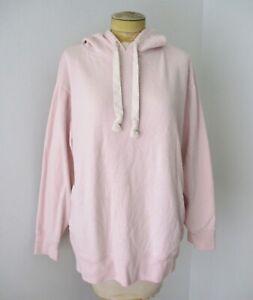 J Crew Vintage Fleece blush pink oversize hoodie sweatshirt pockets hood L