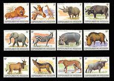 1983 Burundi WILD ANIMALS Mint NH Set of 12 #589 - 600 $187.00 Scott Retail Val.