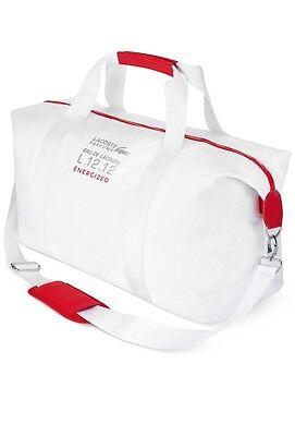Lacoste Parfums Lacoste L.12.12 Energized White Red Duffle Gym Sport Bag Handbag