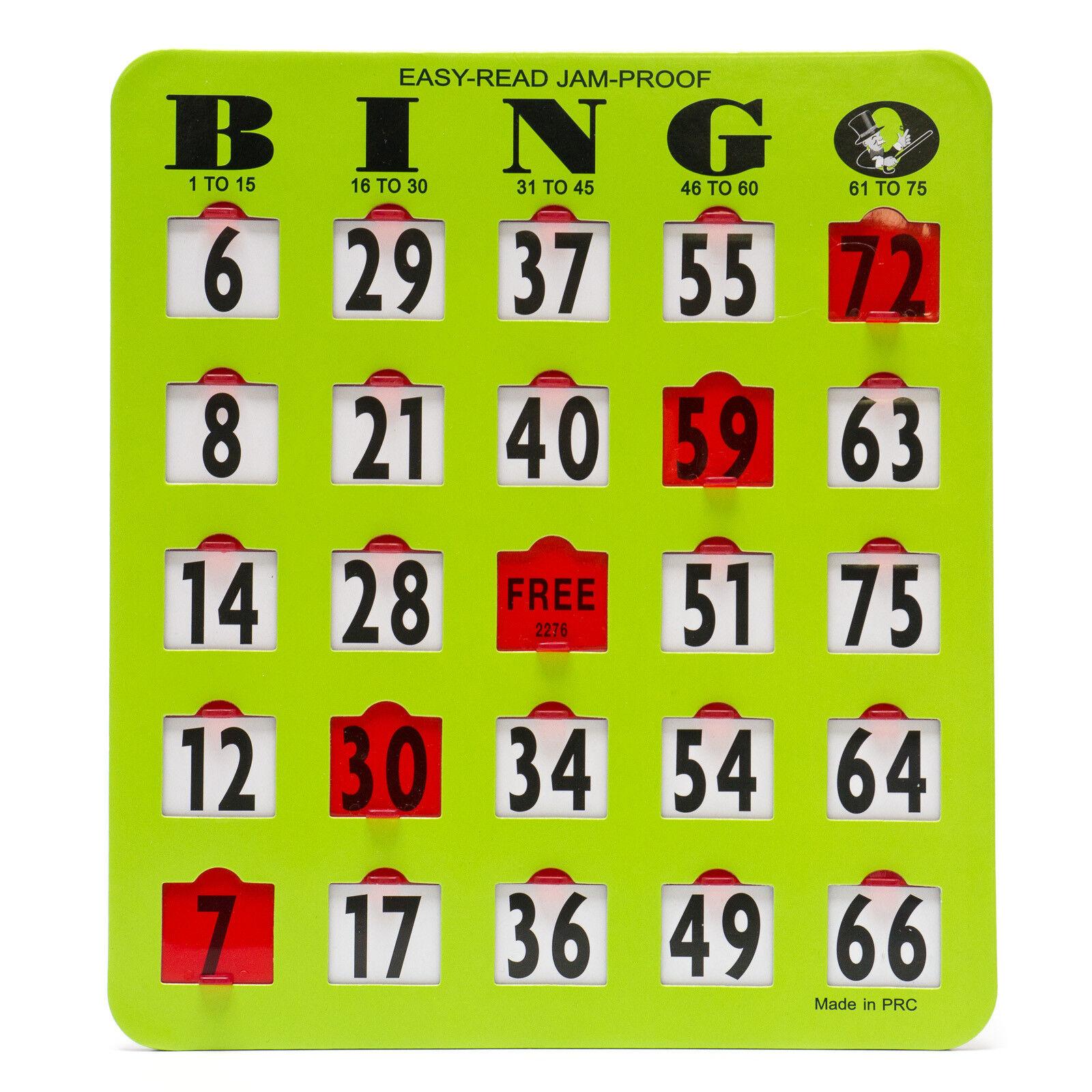 50 verde Bingo fácil leer Jumbo obturador tobogán de 8  X 9  Tarjetas-artículo Cg