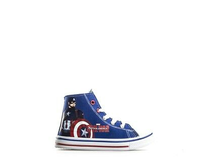 Accurato Scarpe Capitan America Bambini Sneakers Trendy Blu Pu,tessuto Cap3307-55.bl 26- Ultima Tecnologia
