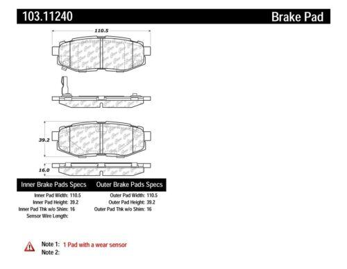 C-TEK Ceramic Brake Pads fits 2006-2008 Subaru B9 Tribeca  C-TEK BY CENTRIC