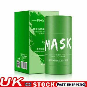 Green Tea Purifying Clay Stick  Oil Control Anti-Acne Eggplant Fine Solid !!
