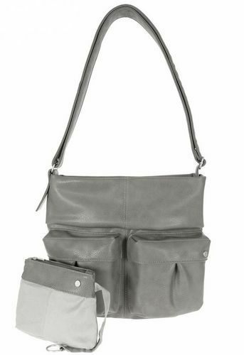 Zwei Shopper Romy R 13 grey Schultertasche Beuteltasche Handtasche Tasche 51262