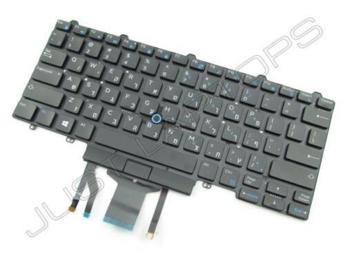 New Dell Latitude 14 7000 E7450 E7470 Hebrew Israeli Backlit Keyboard NVGY3