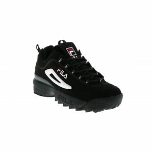 Details about FILA DISRUPTOR II BlackWhite Red FWO1653 018