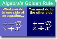 Algebras Golden Rule Math Poster