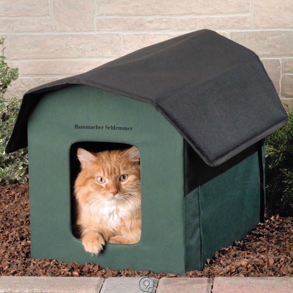 The Only Outdoor Heated Cat Shelter w  Removable 20-Watt Heater Waterproof