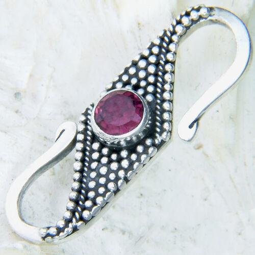cadena u pulsera Silver clasp 8zg25 Granat S-gancho 25mm plata 925 cierre F