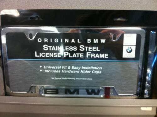 BMW OEM  Chrome Stainless Steel License Plate Frame