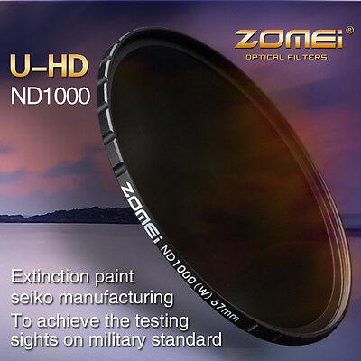 ZOMEI 77MM HD Slim 18 layer MC 10 stop/3.0 ND 1000X filter SHOTT For Hoya lens