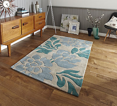 SMALL - EXTRA LARGE X THICK FLORAL FLOWER PETAL VIBRANT COLOURFUL FUNKY RICH RUG