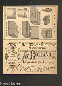 CARTE DE VISITE A ROLLAND Gainerie Maroquinerie Amp