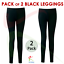 2-PACK-Kids-Girls-Ankle-Length-Stretch-Fit-Cotton-BLACK-Leggings-Casual-2-13-YRS thumbnail 1