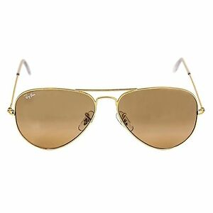 79d0f69333 Ray-Ban RB3025 001 3E 58mm Gold Arista Mirror Aviator Sunglasses for ...