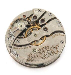 1906-HAMPDEN-DIADEM-3-0S-15J-LEVER-SET-POCKET-WATCH-MOVEMENT-amp-DIAL