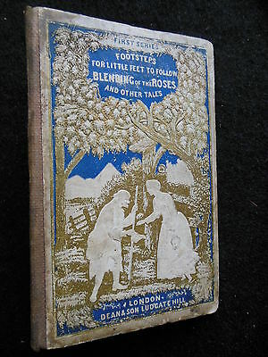 C1870-1st Victorian Children's Book Einfach Zu Schmieren Effizient The Blending Of The Roses & Other Tales