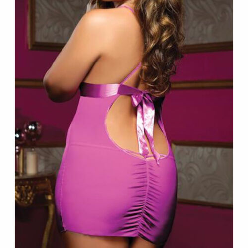 Plus Size Lingerie One Size Queen Pink Kiss and Tell Chemise  STM9567X