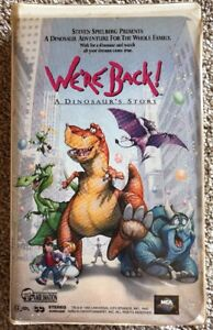 Details about We're Back! A Dinosaur's Story (VHS, 1993) Steven Spielberg  Movie Clamshell Tape