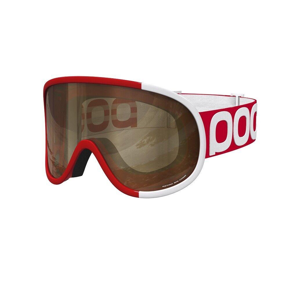 2016 POC Retina BIG Comp Bohrium Red Adult Goggles w  Brown Lens