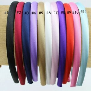 Satin-Alice-bands-10mm-Pack-of-5-Alicebands-Hair-Head-Band-Aliceband-UK-Seller