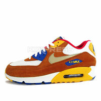 Nike Air Max 90 PRM [700155-107] NSW Running White/Metallic Gold-Red-Blue