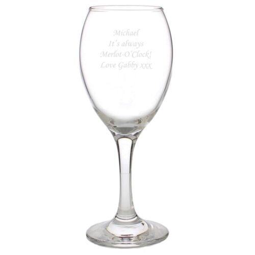 Personalised Engraved Wine Glass Any Message Monotype Corsiva 18th 21st Birthday
