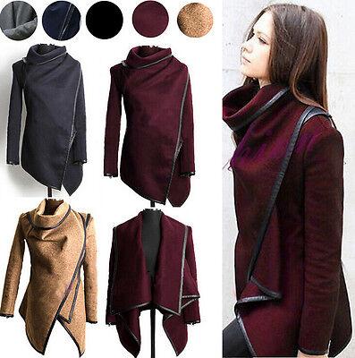 HOT New Women Windbreaker Outwear WOOL Slim Long Coat Jacket Trench Parka Blazer