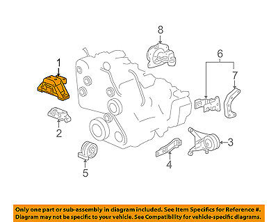 Chevrolet GM OEM 13-15 Spark-Engine Motor Mount//Torque Strut 95136669