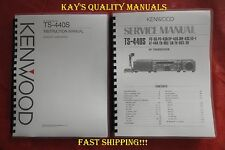 Kenwood TS-440S Service & Operating Manuals ON 32 LB PAPER w/The Heavier Covers!
