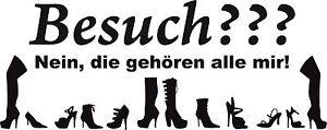 Schuhe1a, Meine Schuhe Aufkleber Schuhe, Tür, Wandtattoo, 50x20 cm