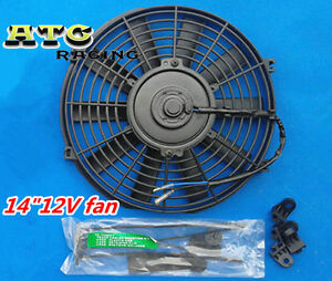 14-12V-Thermo-Radiator-Cooling-Fan-GTI-V8-GTR-GTS-Mounting-kit