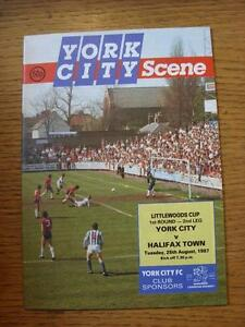 25081987 York City v Halifax Town Football League Cup   Any faults with thi - <span itemprop=availableAtOrFrom>Birmingham, United Kingdom</span> - Returns accepted within 30 days after the item is delivered, if goods not as described. Buyer assumes responibilty for return proof of postage and costs. Most purchases from business s - Birmingham, United Kingdom
