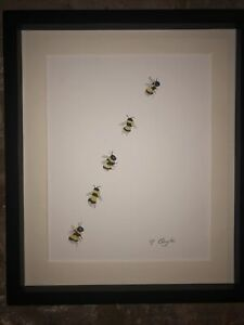 Bumble Bee Original Watercolour Painting, Signed Art Not A Print, Gift