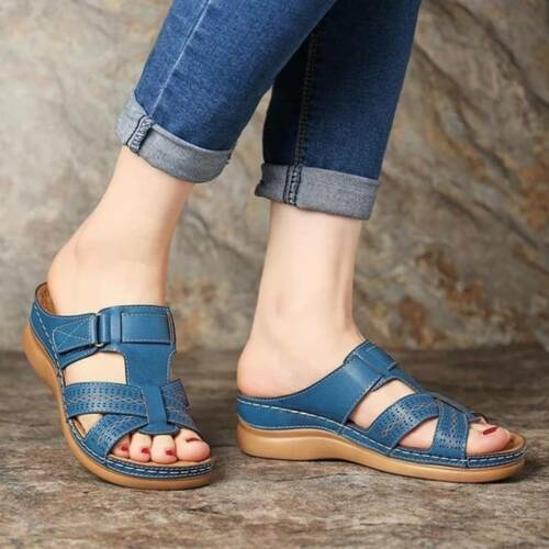 Retro Léger Sandales Couture chaussures plateforme Non-slip été pour femme lin